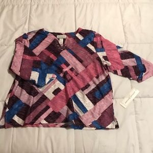 NWT Alfred Dunner Blouse Petite XL